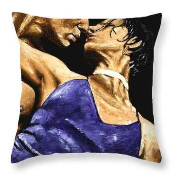Tango Heat Throw Pillow by Richard Young