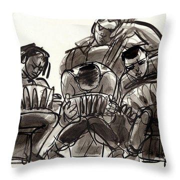 Tango Musicians Throw Pillow