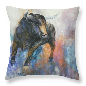 Tango On Wall Street Throw Pillow