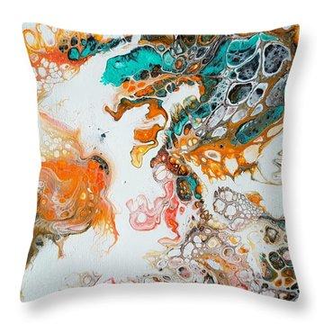 Tango With Turquoise Throw Pillow