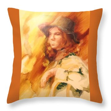 Throw Pillow featuring the painting Tangy by Denise Fulmer