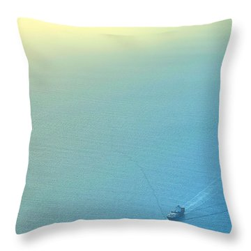 Freighter Minimalism Throw Pillow
