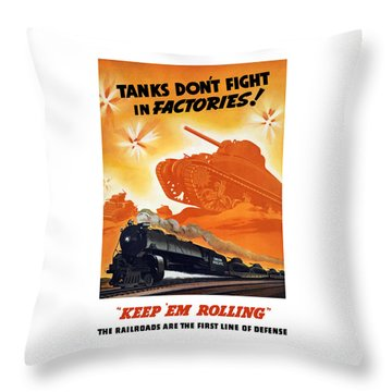 Tanks Don't Fight In Factories Throw Pillow by War Is Hell Store