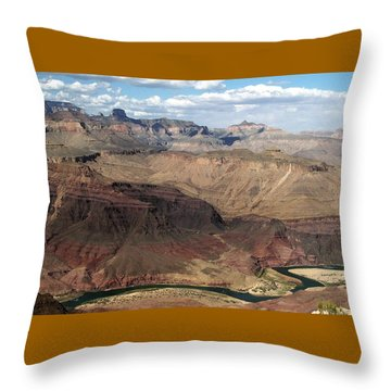 Tanner Rapids And The Colorado River Grand Canyon National Park Throw Pillow