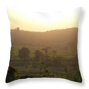 Tansa Valley, Vajreshwari From The Devi Temple Complex Throw Pillow