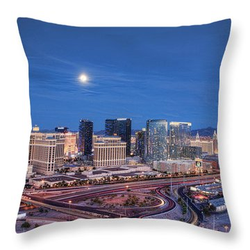Throw Pillow featuring the photograph Tansient - Night by Ryan Smith