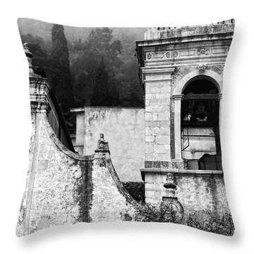 Taormina Church Detail Throw Pillow by Silvia Ganora