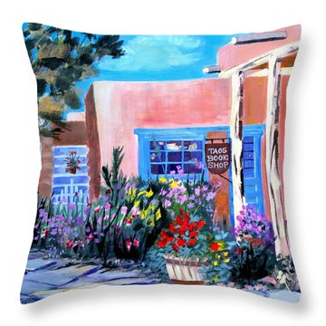 Taos Book Shop Throw Pillow
