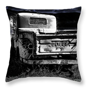 Taos Dodge B-w Throw Pillow