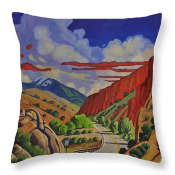 Taos Gorge Journey Throw Pillow