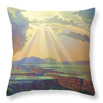 Taos Gorge Light Throw Pillow