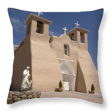 Taos Landmark Throw Pillow by Jerry McElroy