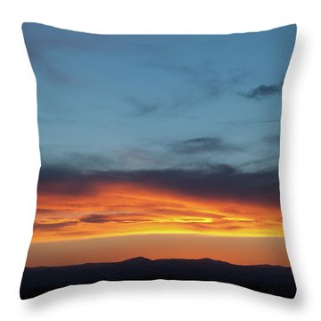 Taos Mesa Sunset Throw Pillow