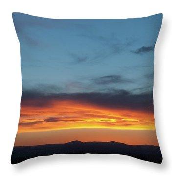 Taos Mesa Sunset Throw Pillow