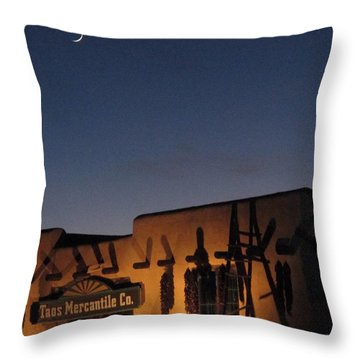 Taos Plaza Throw Pillow