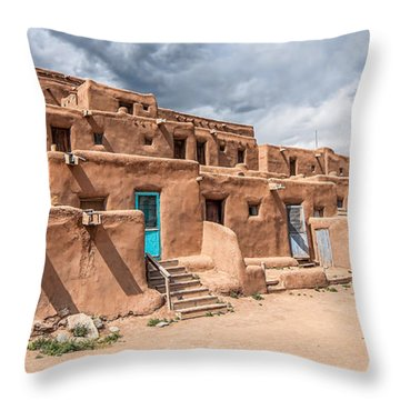 Taos Pueblo New Mexico Throw Pillow