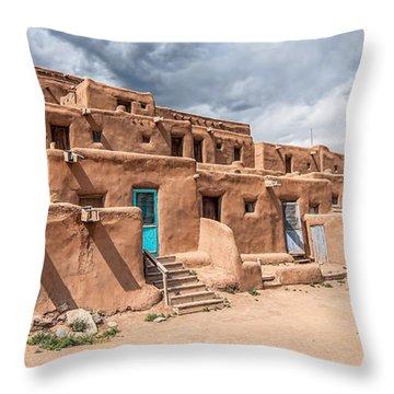 Taos Pueblo New Mexico Throw Pillow