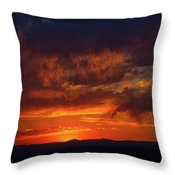 Taos Virga Sunset Throw Pillow
