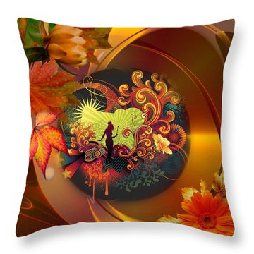 Tap Dancer Surrounded By Nature's Glamour Throw Pillow