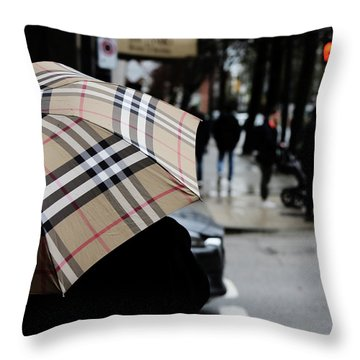 Tap Me On The Shoulder  Throw Pillow by Empty Wall