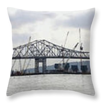 Tappan Zee Bridge From Tarrytown Throw Pillow