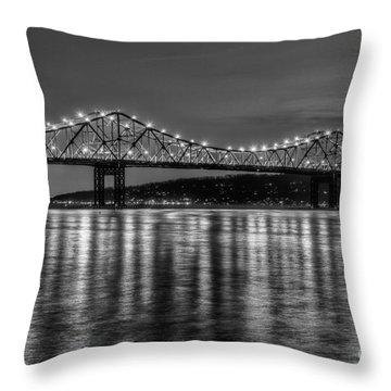 Tappan Zee Bridge Twilight IIi Throw Pillow