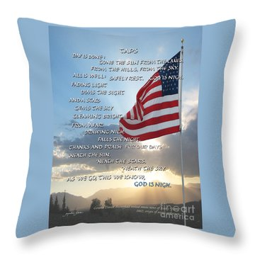 Taps Words Throw Pillow