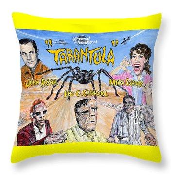 Tarantula - 1955 Lobby Card That Never Was Throw Pillow