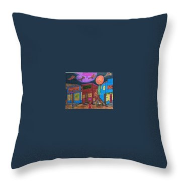 Garbell's Lunch And Confectionery Throw Pillow by Jonathon Hansen