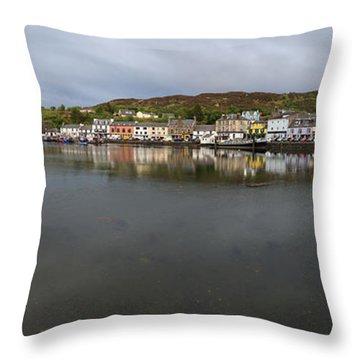 Tarbert Harbour - Panorama Throw Pillow