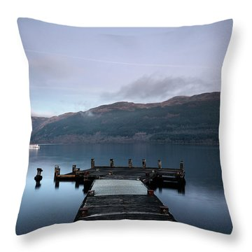 Throw Pillow featuring the photograph Tarbet Twilight by Grant Glendinning