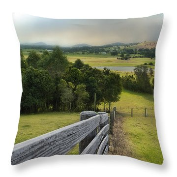 Taree West 01 Throw Pillow by Kevin Chippindall