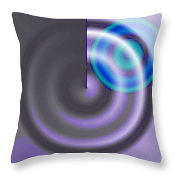 Targe Cool Blue Throw Pillow by Susan Baker