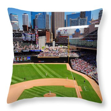 Target Field, Home Of The Twins Throw Pillow