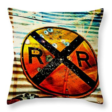 Target Practice Throw Pillow by Toni Hopper