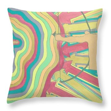 Throw Pillow featuring the painting Target by Erika Chamberlin