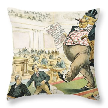 Tariff Lobbyist, 1897 Throw Pillow by Granger