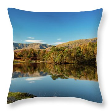 Throw Pillow featuring the photograph Tarn Hows by Mike Taylor