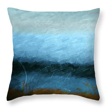 Tarn Throw Pillow by Linde Townsend