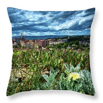 Tarragona From The Roman Wall Throw Pillow