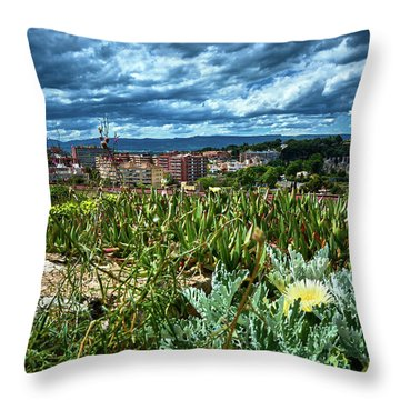 Tarragona From The Roman Wall Throw Pillow