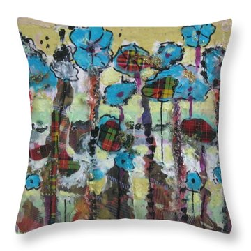 Tartan Garden Throw Pillow