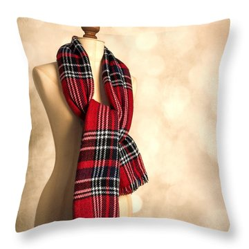 Tartan Scarf Throw Pillow