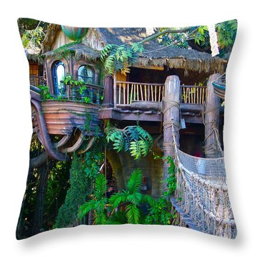 Tarzan Treehouse Throw Pillow