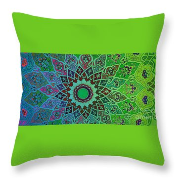 Tashkent Blossoms Mug Throw Pillow