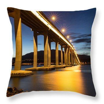 Tasman Bridge Throw Pillow