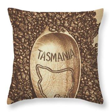 Tasmania Coffee Beans Throw Pillow