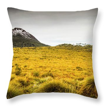 Tasmania Mountains Of The East-west Great Divide  Throw Pillow