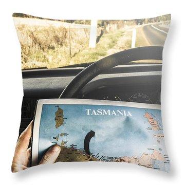 Tasmania Road Trip Throw Pillow