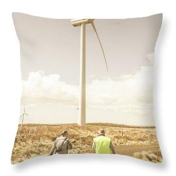 Tasmania Turbine Tours Throw Pillow